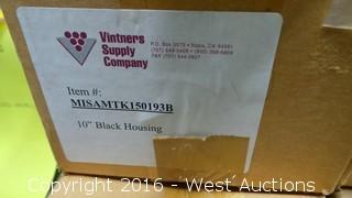 "(4) 10"" Plastic Black DOE Housing"