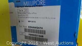 (2) Millipore EZ-Pak Membrane Filters