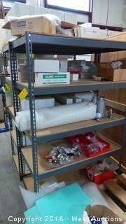 (2) Metal Racks with Filter Cartridges and Parts