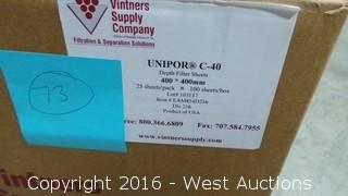 Box of (73) Unipor C-40 Depth Filter Sheets