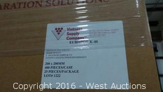 Pallet of (12) Boxes of Europor K-10 Depth Filter Sheets