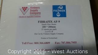 (600) Fibrafix AF-9 Filter Sheets