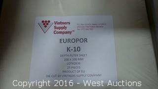Partial Box of Europor K-10 Depth Filter Sheets