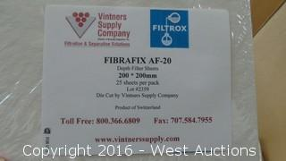 Partial Box of Fibrafix AF-20 Filter Sheets