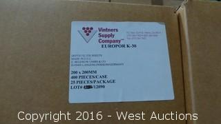 (3) Boxes of Europor K-30 Depth Filter Sheets