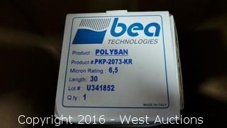(13) Bea Technologies Polysan Filter Cartridges