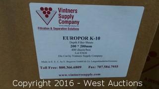 Box of Europor K-10 Depth Filter Sheets