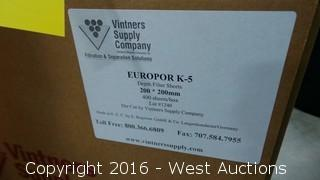 Box of Europor K-5 Depth Filter Sheets