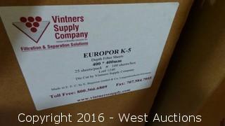 (75) Europor K-5 Depth Filter Sheets