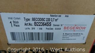 "(14) BECODISC 220 16"" 0.4-0.5 Micron Silicone Double O-Ring Adapters"