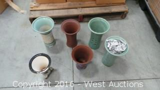 (569) Hand Painted Vases and Plant Pots - Various Sizes