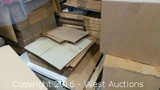 (15) Pallets of Cardboard Boxes - Various Sizes
