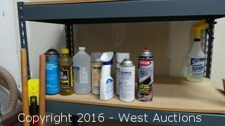 Shelf Unit with Cleaning Supplies
