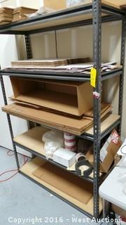 Metal Shelf with Shipping Supplies