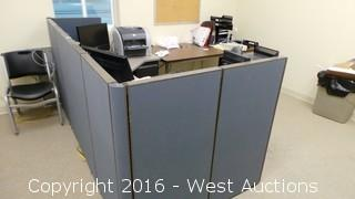 Office Contents - Partitions, Desk, Chairs, Printer, Shredder