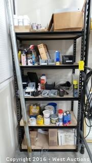 Metal Rack with Supplies