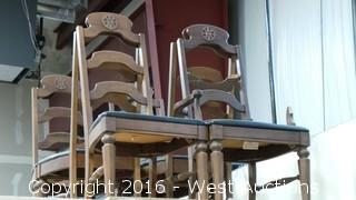 (6) Broyhill Industries Wooden Chairs