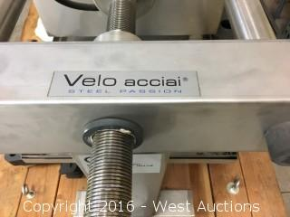 Velo Acciai Steel Passion 40x40 Commercial Wine Filter with Dual Wound Motor
