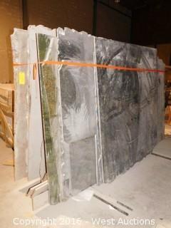 (17) Granite Slabs with Remnants