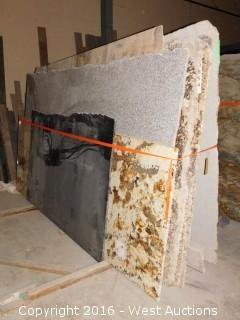 (13) Granite Slabs with Remnants