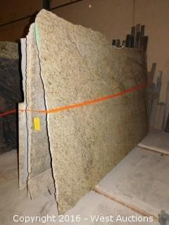 (13) Granite Slabs with Remnants