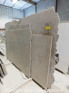 (4) Granite Slabs with Remnants