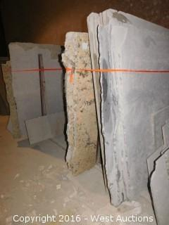 (19) Granite Slabs with Remnants