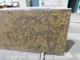 "(1) 78.5""x26"" Pre-Fabricated Gray Duavesa Granite Countertop"