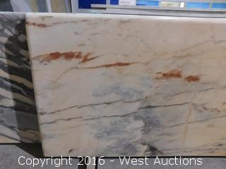 "(1) 70""x26"" Pre-Fabricated Marble Countertop"