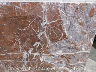 "(1) 79.5""x26"" Pre-Fabricated Marble Countertop"