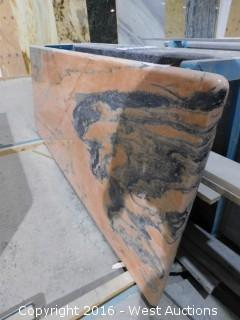 "(1) 65-1/4""x26"" Pre-Fabricated Marble Countertop"