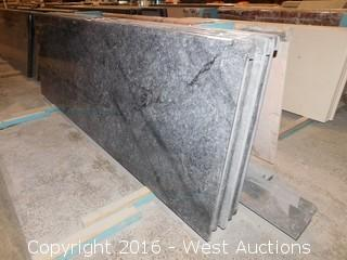 "(1) 80""x26"" Pre-Fabricated Blue Sky Marble Countertop"