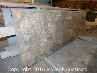"(1) 81-3/4""x26"" Pre-Fabricated Marble Countertop"