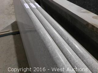 """(1) 82.5""""x26"""" Pre-Fabricated White Galaxy Marble Countertop"""