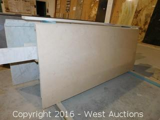"(1) 60.5""x26"" Pre-Fabricated Rosa Pink Marble Countertop"