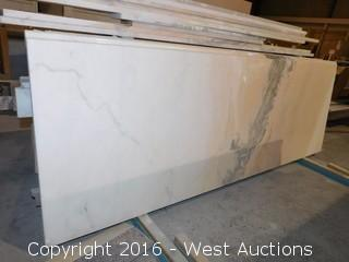 "(1) 76.5""x26"" Pre-Fabricated Rose Pink Marble Countertop"