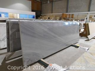 "(1) 68-3/4""x26"" Pre-Fabricated Gray and White Marble Countertop"