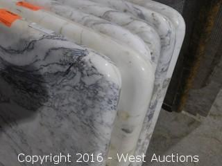 """(1) 76""""x23"""" Pre-Fabricated Jazz White Marble Countertop"""