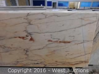 "(1) 77""x26"" Pre-Fabricated Marble Countertop"