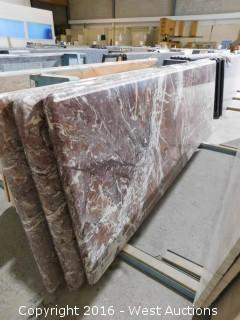 "(1) 84""x26"" Pre-Fabricated Marble Countertop"