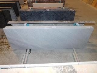"(1) 82.5""x26"" Pre-Fabricated White Galaxy Marble Countertop"