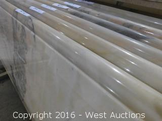 "(1) 71""x26"" Pre-Fabricated Rosa Bellissimo Marble Countertop"