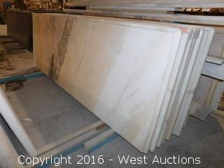"(1) 74.5""x26"" Pre-Fabricated Rosa Bellissimo Marble Countertop"