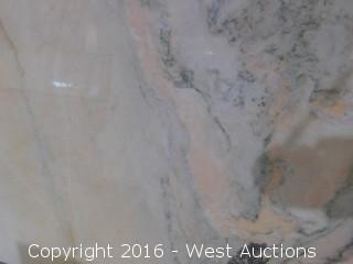 "(1) 76.5""x26"" Pre-Fabricated Rosa Bellissimo Marble Countertop"