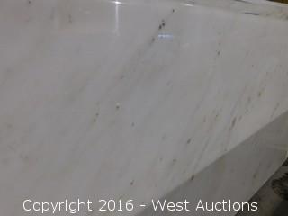 "(1) 49""x26"" Pre-Fabricated Marble Countertop"