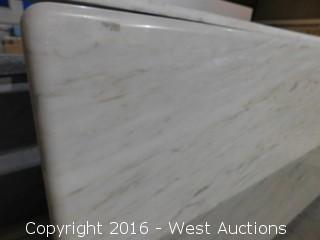 "(1) 67.5""x26"" Pre-Fabricated Marble Countertop"