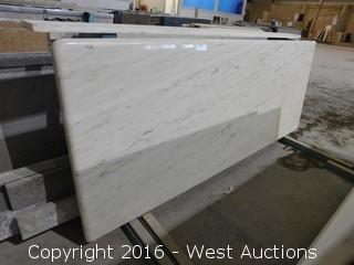 """(1) 67.5""""x26"""" Pre-Fabricated Marble Countertop"""