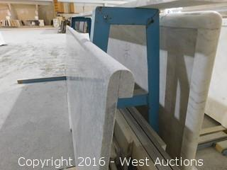 "(1) 71""x23"" Pre-Fabricated Marble Countertop"