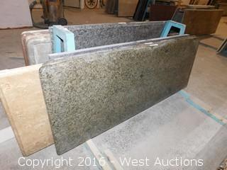 "(1) 62""x26"" Pre-Fabricated Granite Countertop"