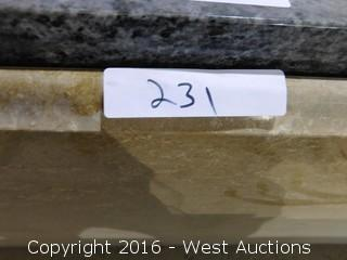 "(1) 71""x25"" Pre-fabricated Granite Countertop"